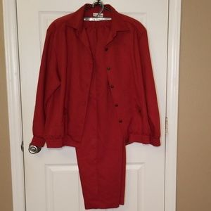 Alfred Dunner Pant Suit, Size 16,  Rust Color